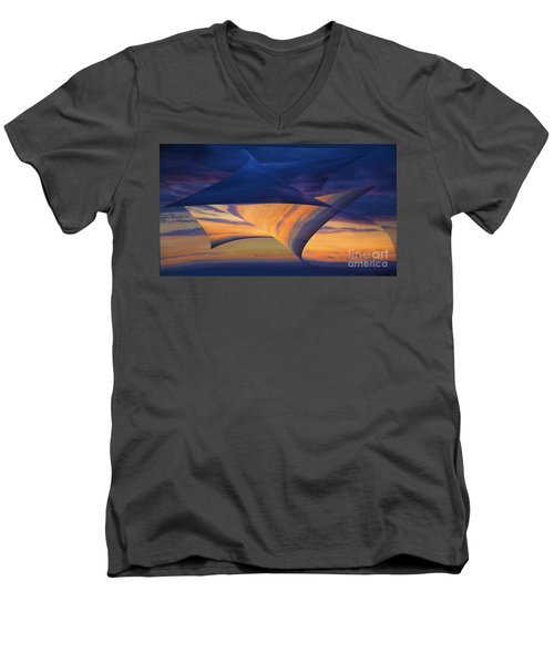 Men's V-Neck T-Shirt featuring the photograph Peeling Back The Layers by Clare Bambers