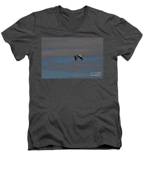 Men's V-Neck T-Shirt featuring the photograph Pelican In Flight 4 by Blair Stuart