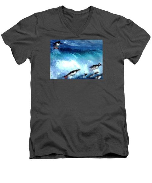 Penquin Play Men's V-Neck T-Shirt