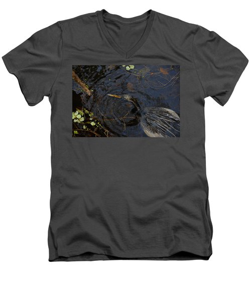 Perfect Catch Men's V-Neck T-Shirt by David Lee Thompson
