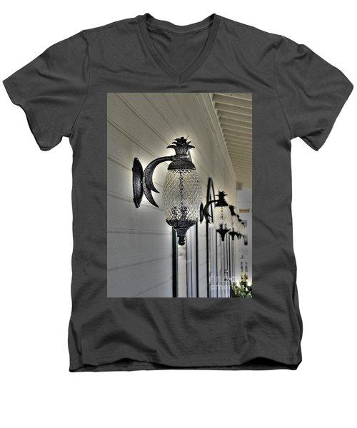 Pineapple Lights Men's V-Neck T-Shirt