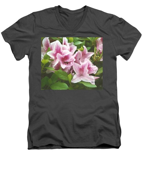 Pink Tulips Men's V-Neck T-Shirt