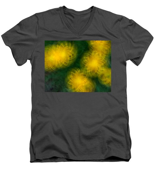 Pirouetting Dandelions Men's V-Neck T-Shirt