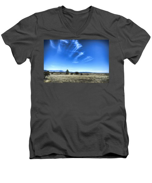 Point Of Pines - San Carlos Indian Reservation Men's V-Neck T-Shirt