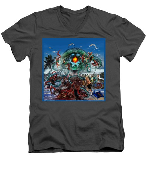 Pollution Shall Thank You Men's V-Neck T-Shirt by Tony Koehl