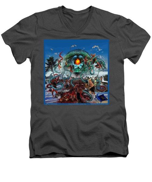 Pollution Shall Thank You Men's V-Neck T-Shirt
