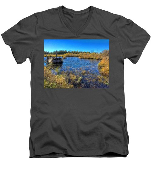 Pond 1 Today.psd Men's V-Neck T-Shirt
