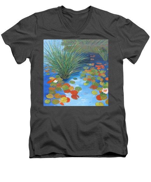 Pond Revisited Men's V-Neck T-Shirt by Gary Coleman