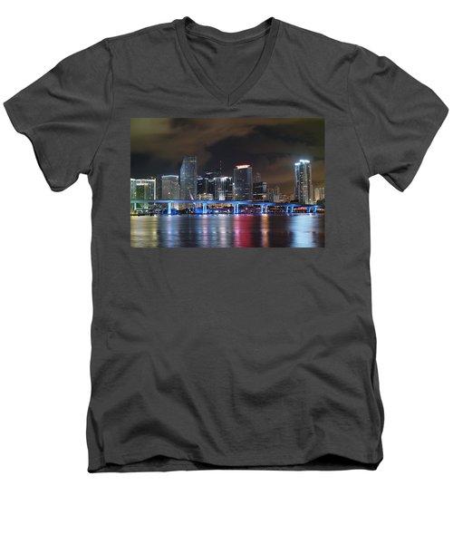 Port Of Miami Downtown Men's V-Neck T-Shirt
