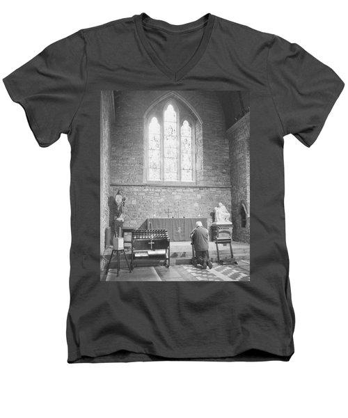 Men's V-Neck T-Shirt featuring the photograph Prayer by Hugh Smith