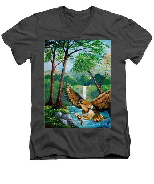 Presa Atrapada Men's V-Neck T-Shirt
