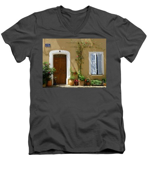 Provence Door 3 Men's V-Neck T-Shirt by Lainie Wrightson
