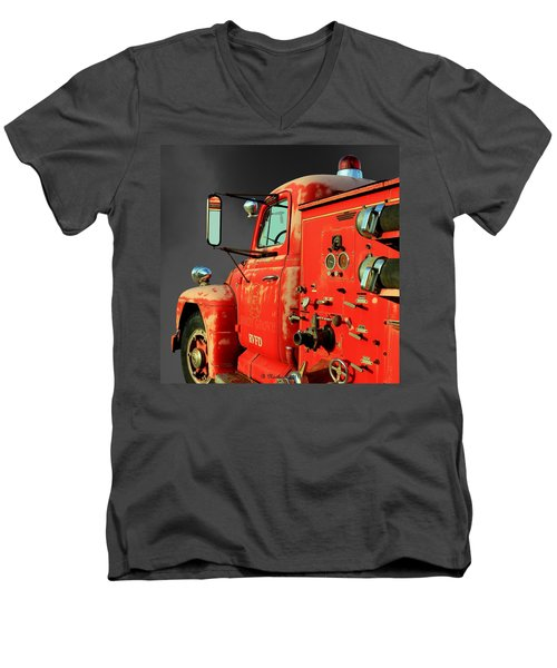 Pumper No. 2 - Retired Men's V-Neck T-Shirt by Betty Northcutt