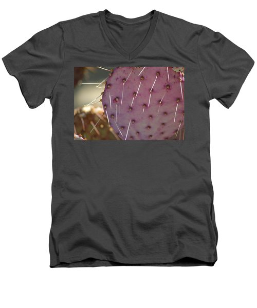 Purple Prickly Pear Men's V-Neck T-Shirt