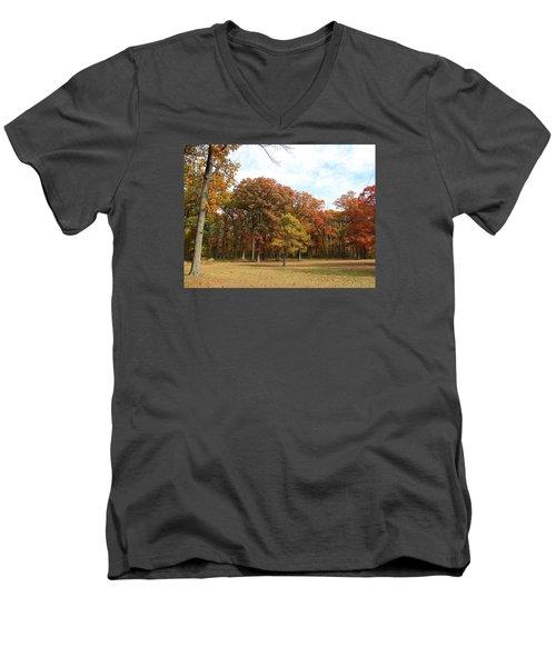 Quiet Forest 2 Men's V-Neck T-Shirt by Cedric Hampton