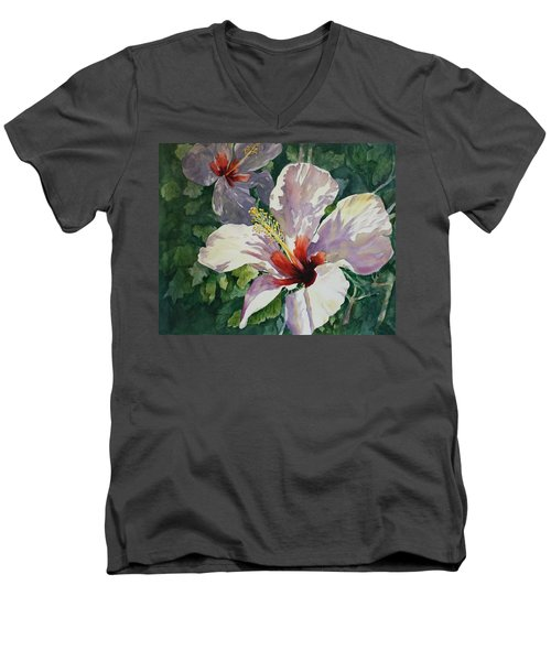 Radiant Light - Hibiscus Men's V-Neck T-Shirt