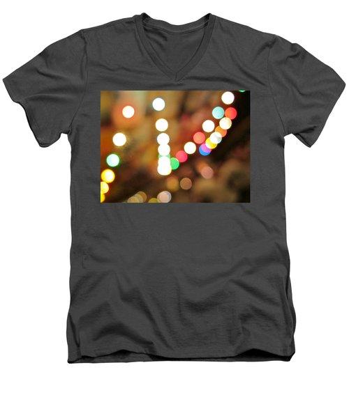 Rainbow Brights Men's V-Neck T-Shirt