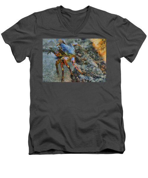 Rainbow Crab Men's V-Neck T-Shirt