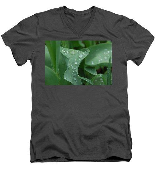Men's V-Neck T-Shirt featuring the photograph Raindrops by Aimee L Maher Photography and Art Visit ALMGallerydotcom