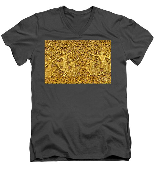 Men's V-Neck T-Shirt featuring the photograph Ramayana by Luciano Mortula
