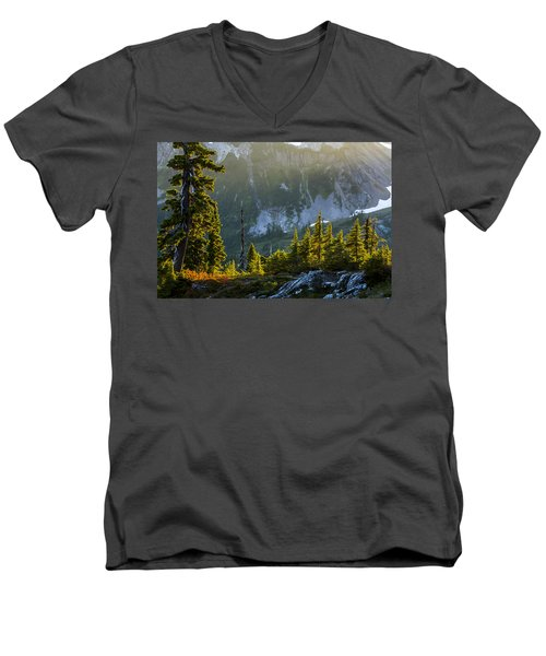 Men's V-Neck T-Shirt featuring the photograph Rare Sunset by Albert Seger