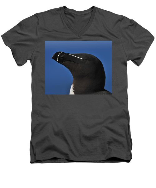 Razorbill Portrait Men's V-Neck T-Shirt