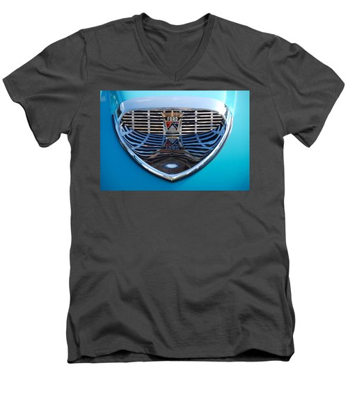 Men's V-Neck T-Shirt featuring the photograph Reflecting Ford by John Schneider