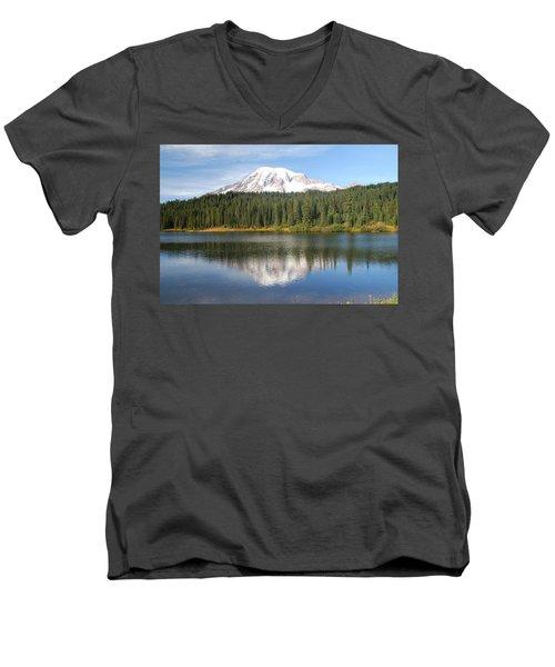 Reflection Lake - Mt. Rainier Men's V-Neck T-Shirt