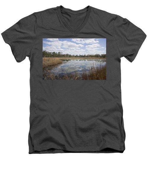 Reflections Men's V-Neck T-Shirt by Lynn Palmer