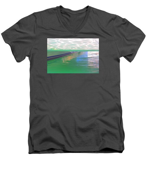 Men's V-Neck T-Shirt featuring the photograph Reflections by Nareeta Martin
