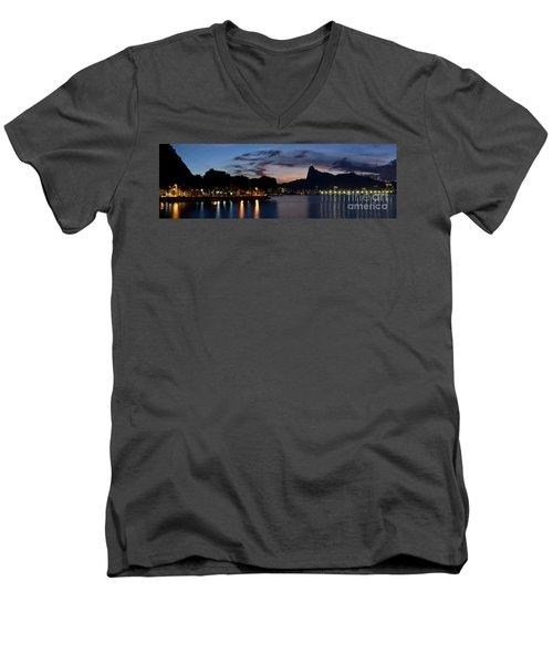 Rio Skyline From Urca Men's V-Neck T-Shirt