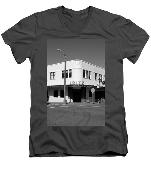 Ritz Building Eureka Ca Men's V-Neck T-Shirt