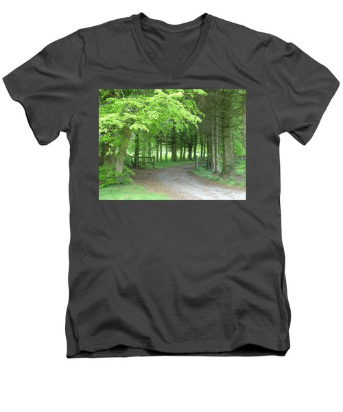 Road Into The Woods Men's V-Neck T-Shirt