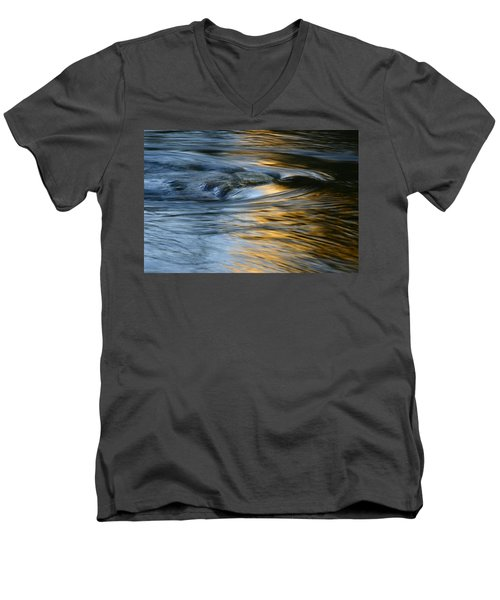 Rock And Blue Gold Water Men's V-Neck T-Shirt
