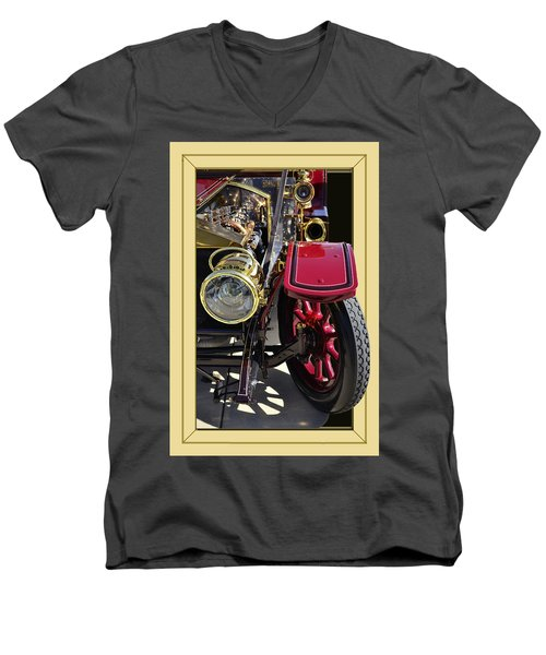 Men's V-Neck T-Shirt featuring the photograph Rolls Out by Larry Bishop