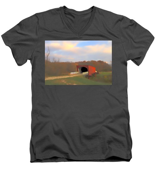 Roseman Bridge Of Clint Eastwood Fame Men's V-Neck T-Shirt