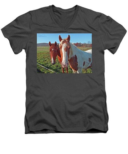 Ruff 'n Reddy Men's V-Neck T-Shirt