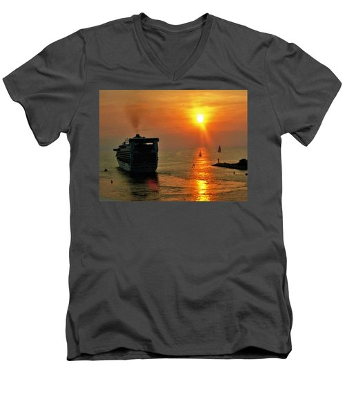 Sailing Into The Sunset Men's V-Neck T-Shirt
