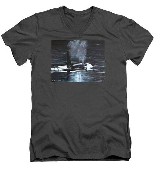 San Juan Resident Men's V-Neck T-Shirt by Kim Lockman