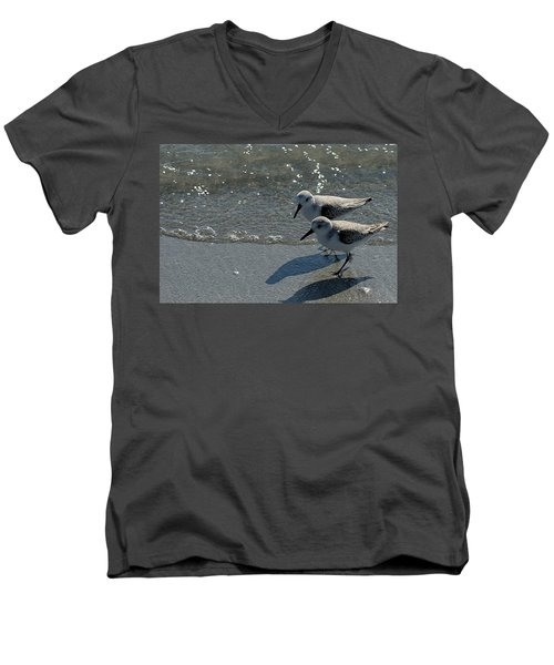 Sandpiper 5 Men's V-Neck T-Shirt by Joe Faherty
