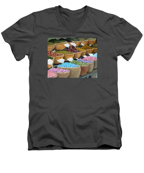 Scents For The Senses Men's V-Neck T-Shirt by Laurie Morgan