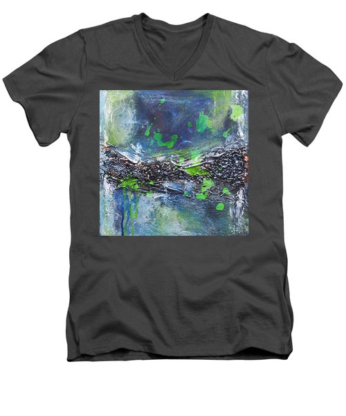 Sea World Men's V-Neck T-Shirt by Nicole Nadeau