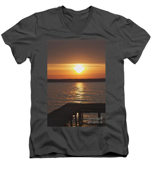 Men's V-Neck T-Shirt featuring the photograph Seneca Lake by William Norton
