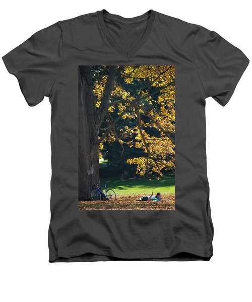 Men's V-Neck T-Shirt featuring the photograph September Dreams by Joseph Yarbrough
