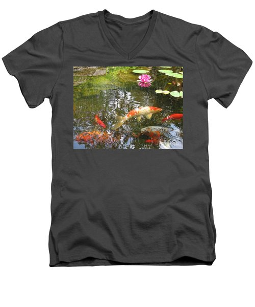 Serenity Men's V-Neck T-Shirt by Laurianna Taylor