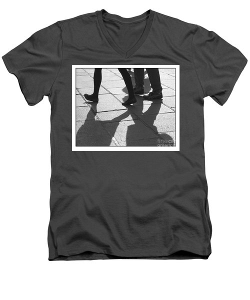 Men's V-Neck T-Shirt featuring the photograph Shadow People by Victoria Harrington