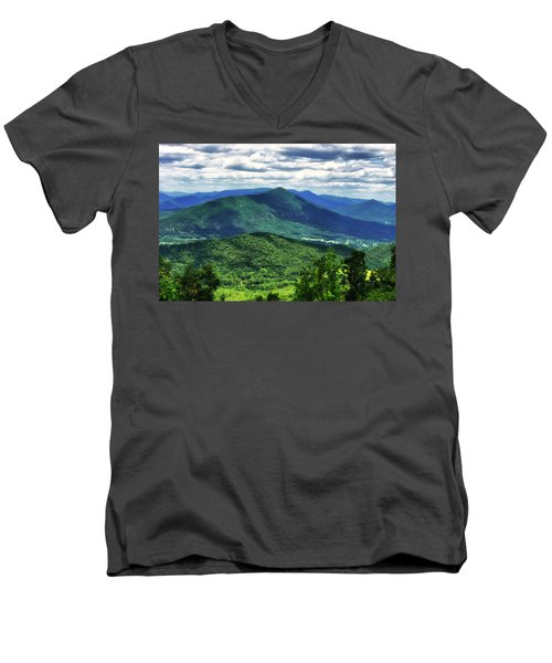 Shadows On The Mountains Men's V-Neck T-Shirt