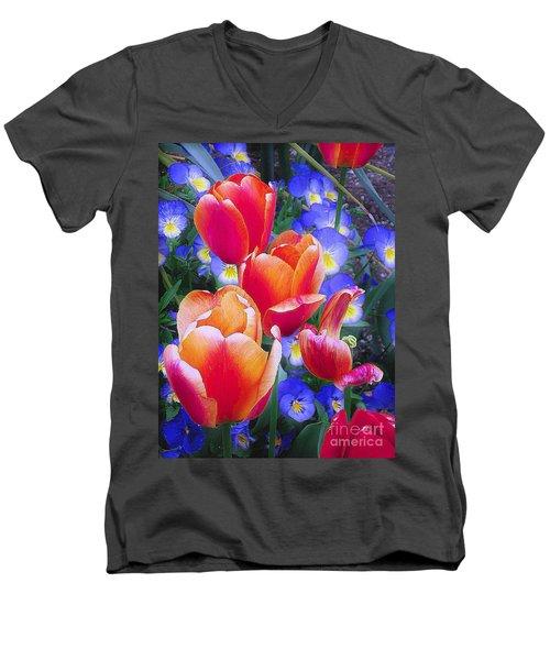 Shining Bright Men's V-Neck T-Shirt
