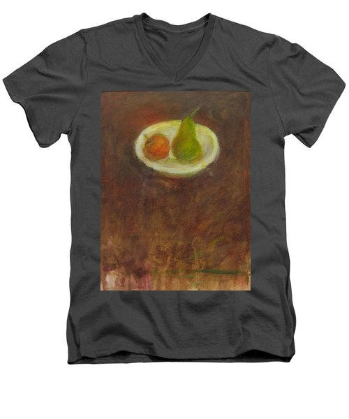 Men's V-Neck T-Shirt featuring the painting Side By Side by Kathleen Grace