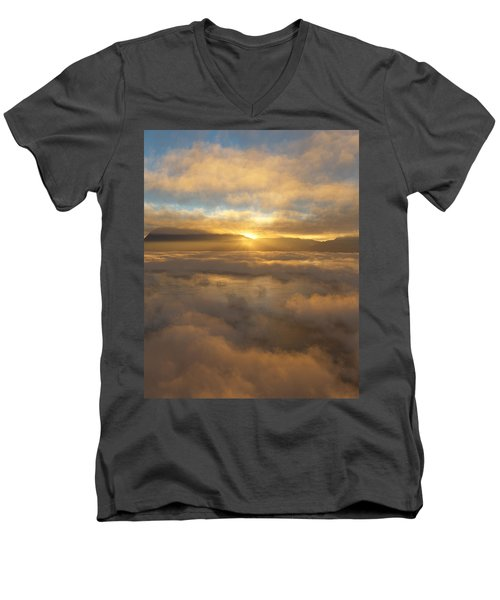 Silver Lake Sunrise Men's V-Neck T-Shirt